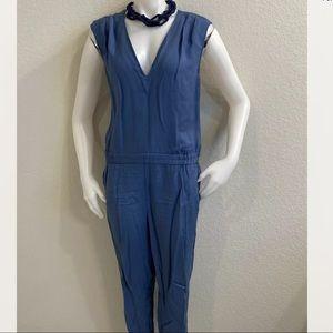 J. CREW Dusty Blue Lyocell Sleeveless Jumpsuit 12